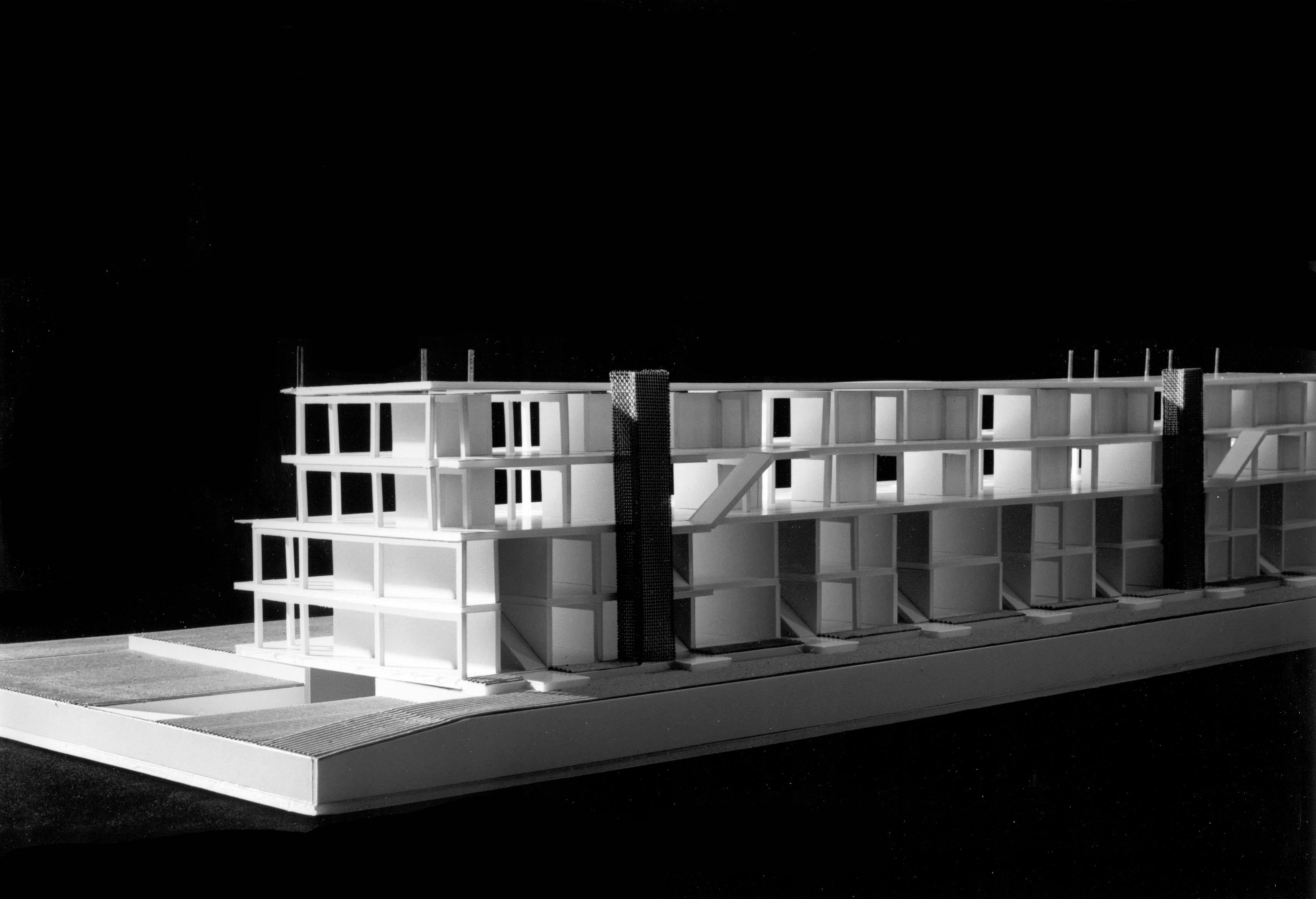 <p>© RUNSER / PRANTL architekten, Niedrigstenergie Wohnhaus, 1230 Wien, Österreich, Bauträgerwettbewerb, 1996, Niedrigstenergie Wohnhaus, Fotograf Margherita Spiluttini</p>