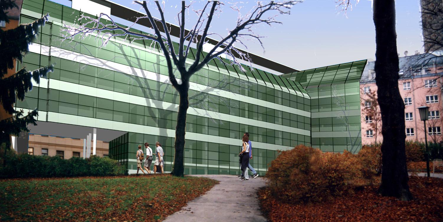 <p>© RUNSER / PRANTL achitekten, Medizintechnisches Zentrum, 1090 Wien, Österreich, Studie, 2000, Bürohaus, Labor<p>