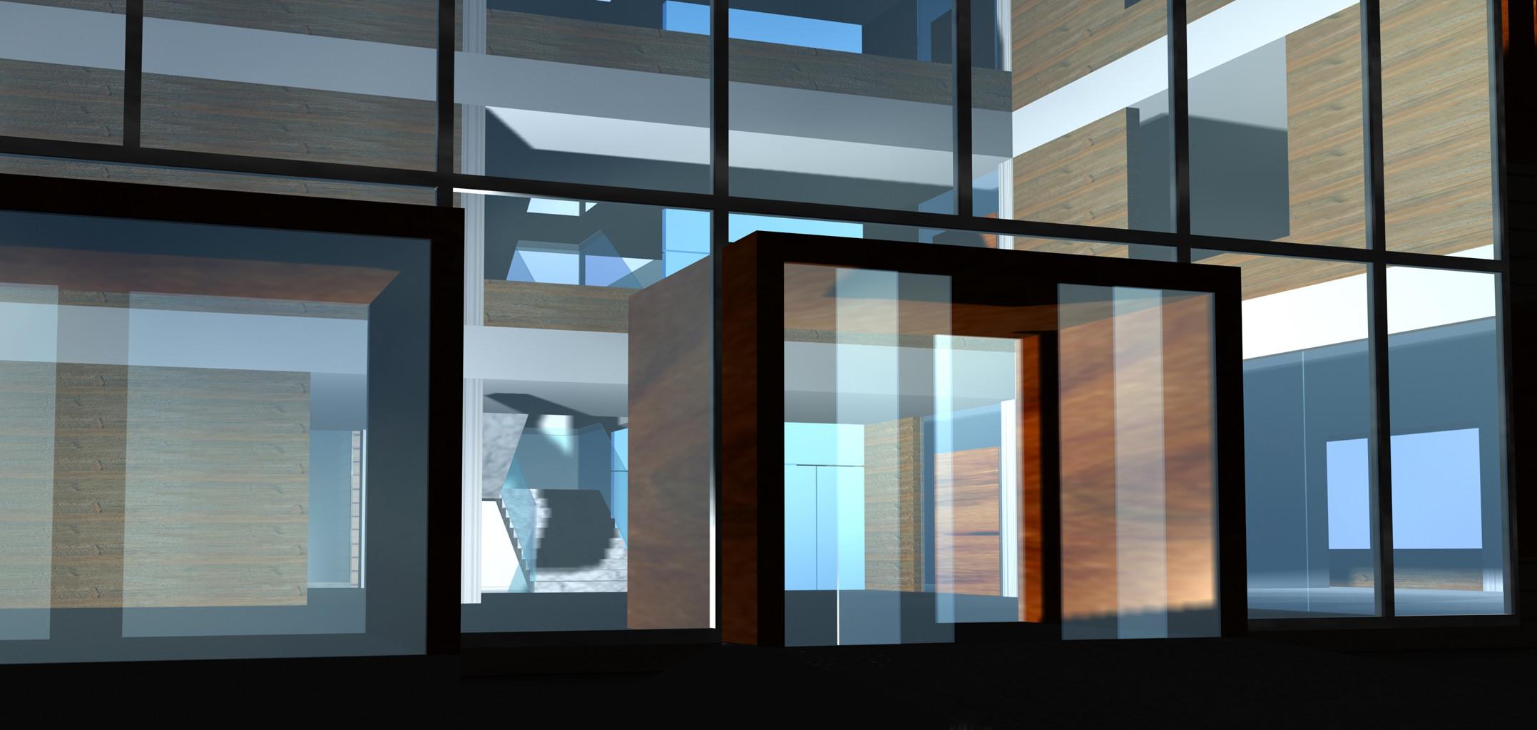 <p>© RUNSER / PRANTL architekten, Landespensionisten- und Pflegeheim, 3830 Waidhofen/Thaya, Niederösterreich, Österreich, Wettbewerb, 2002, Wohnhaus, Pflegeheim, Betreutes Wohnen, Senioren</p>