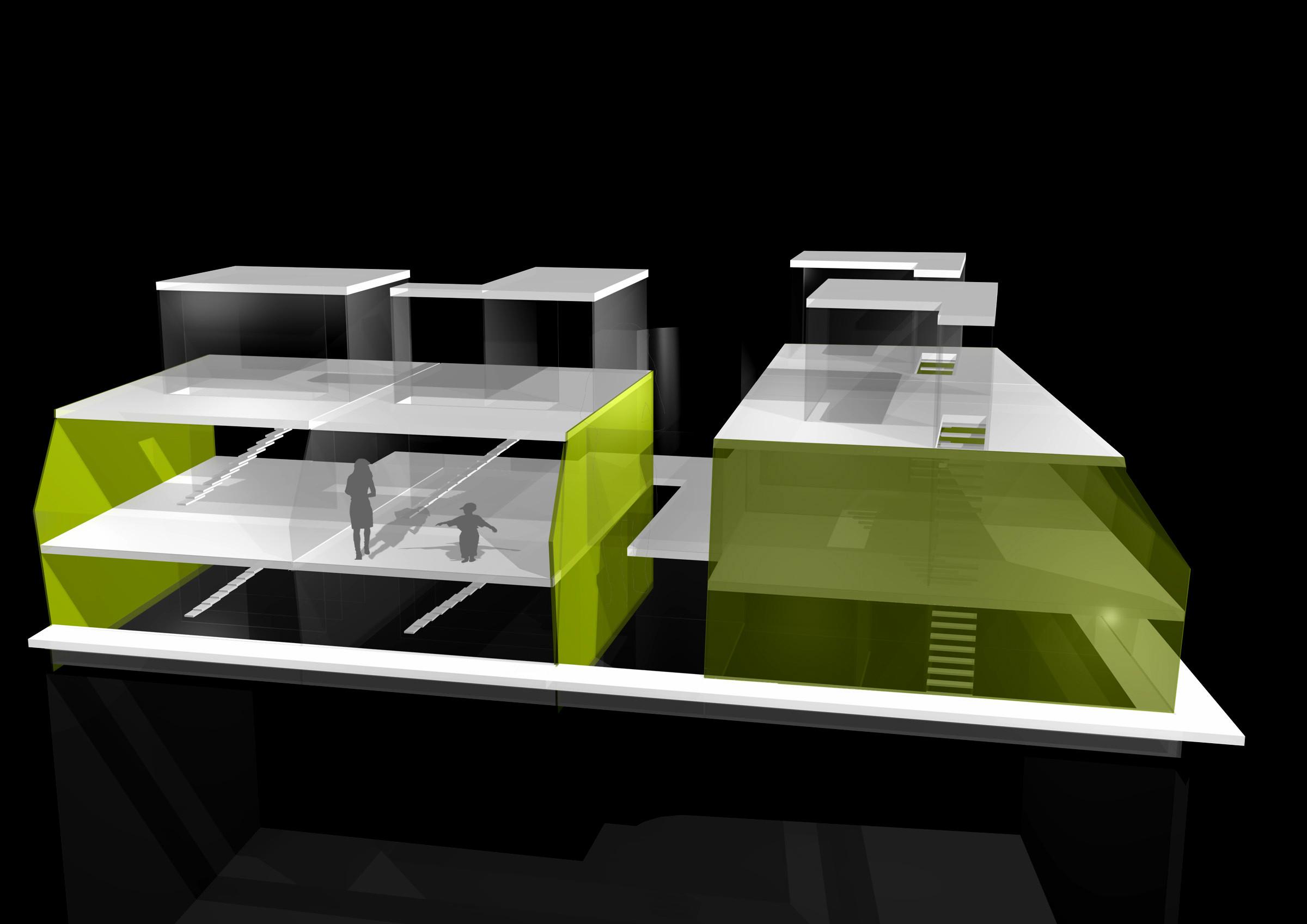 <p>© RUNSER / PRANTL architekten, Wohnhaus Sanierung und Aufstockung, 1020 Wien, Österreich, 2004, Dachbodenausbau, Wohnhaus</p>
