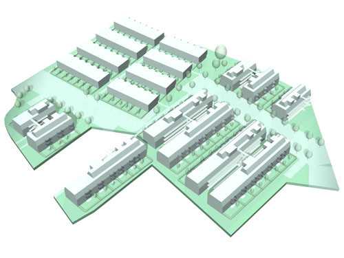 <p>© RUNSER / PRANTL architekten, Passiv Wohnhausanlage, Seepark, 2331 Vösendorf, Niederösterreich, Österreich, 2007, Passiv Wohnhausanlage</p>