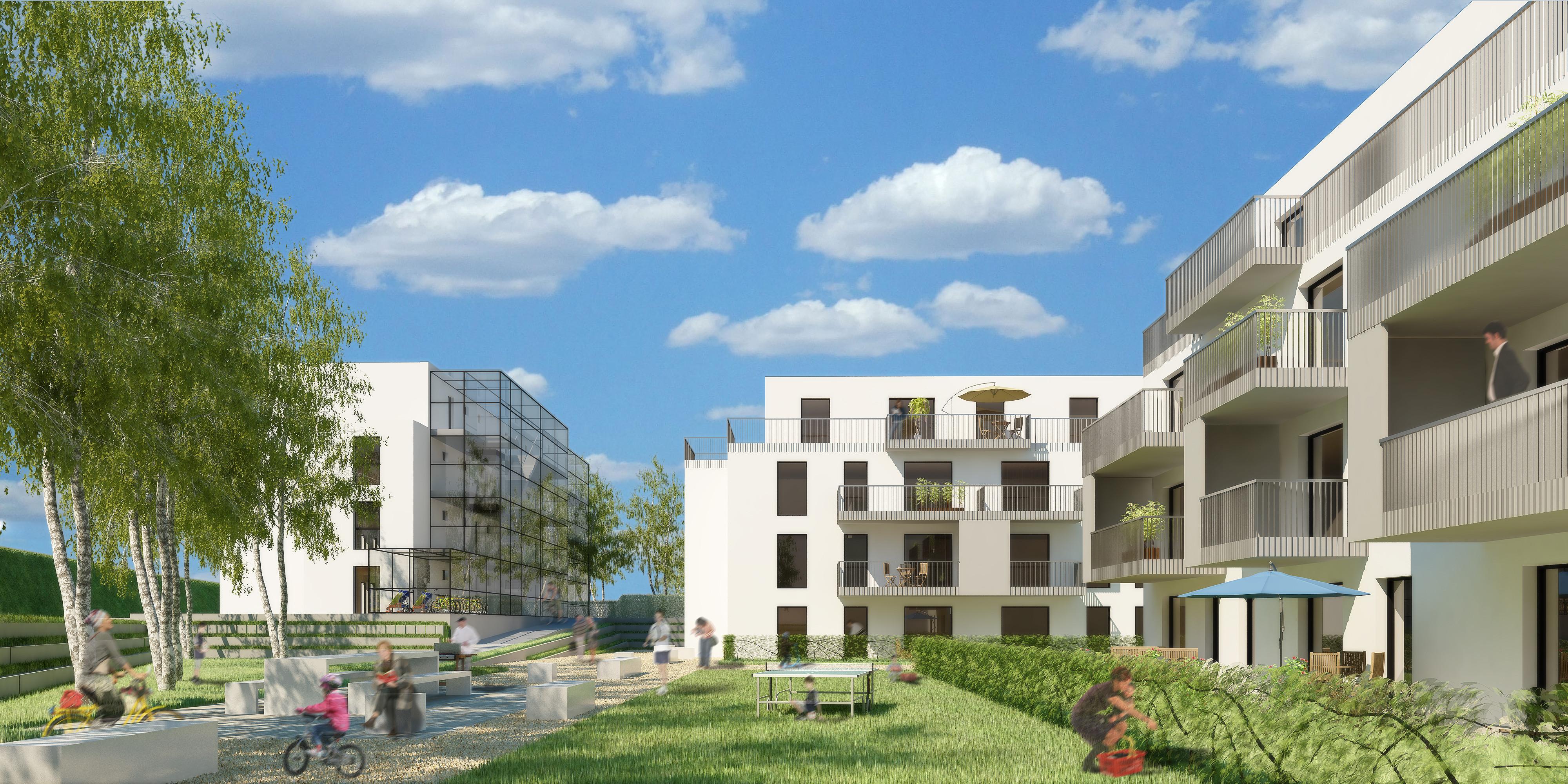 <p>© RUNSER / PRANTL architekten, Passiv Wohnhausanlage, 2130 Mistelbach, Niederösterreich, Österreich, Wettbewerb, 2012, Passiv Wohnhausanlage</p>