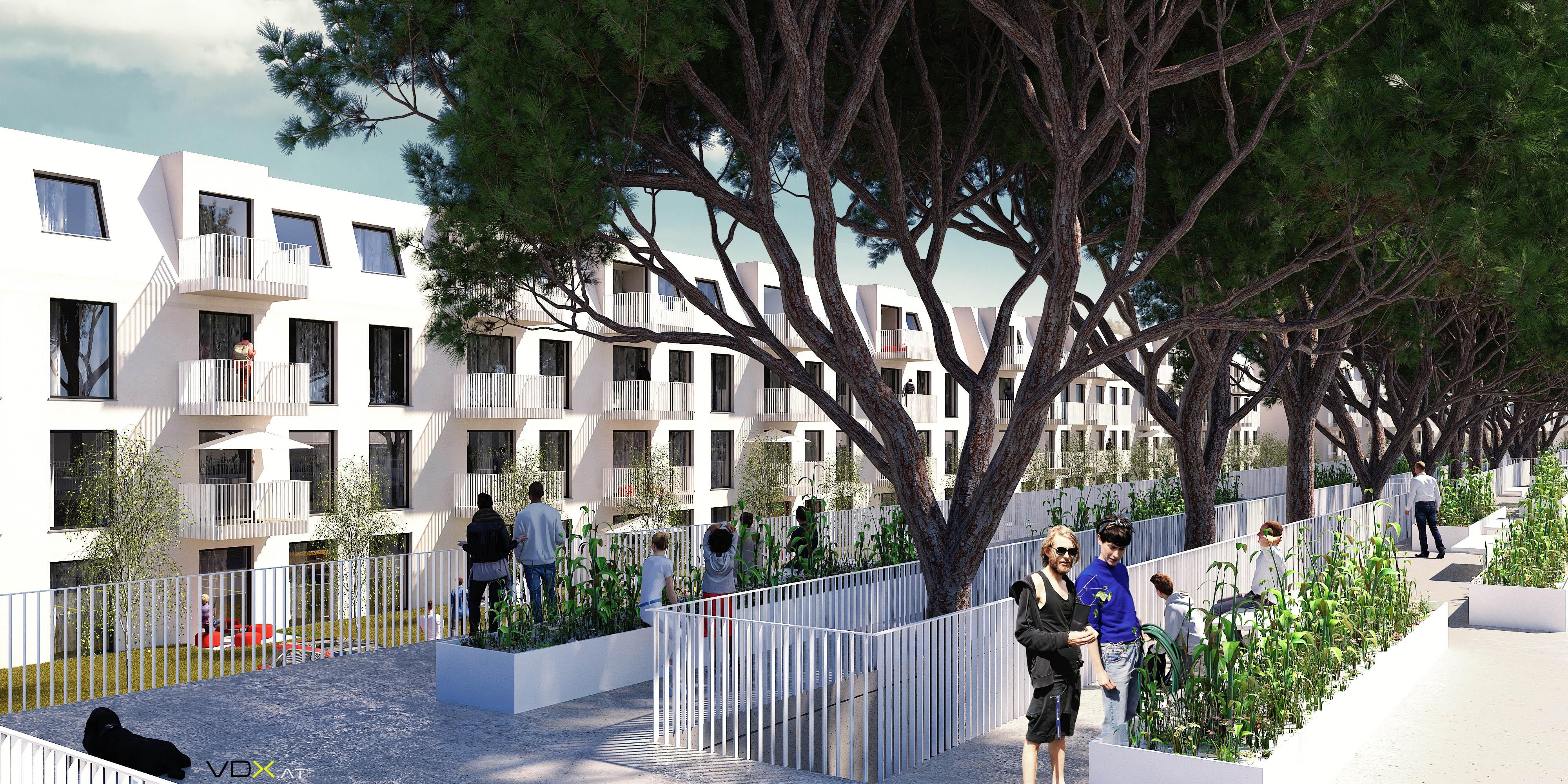 © RUNSER / PRANTL architekten, Passiv Wohnhausanlage, 2700 Wiener Neustadt, Niederösterreich, Österreich, Wettbewerb, 2016, Passiv Wohnhausanlage